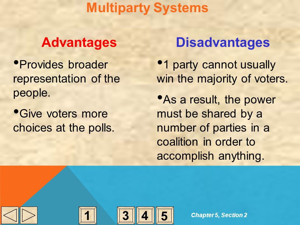 Multiparty Systems Advantages Disadvantages