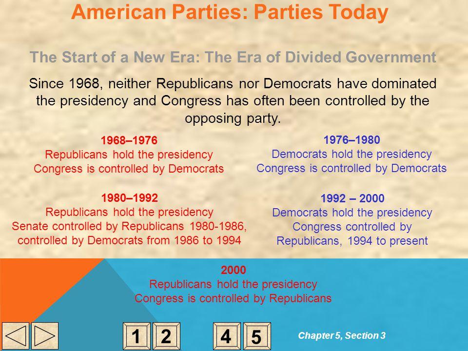 American Parties: Parties Today
