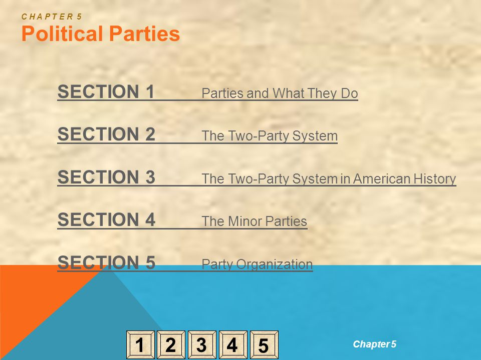 C H A P T E R 5 Political Parties