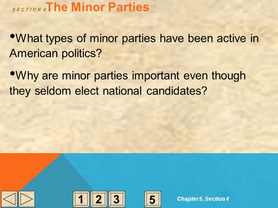 S E C T I O N 4The Minor Parties