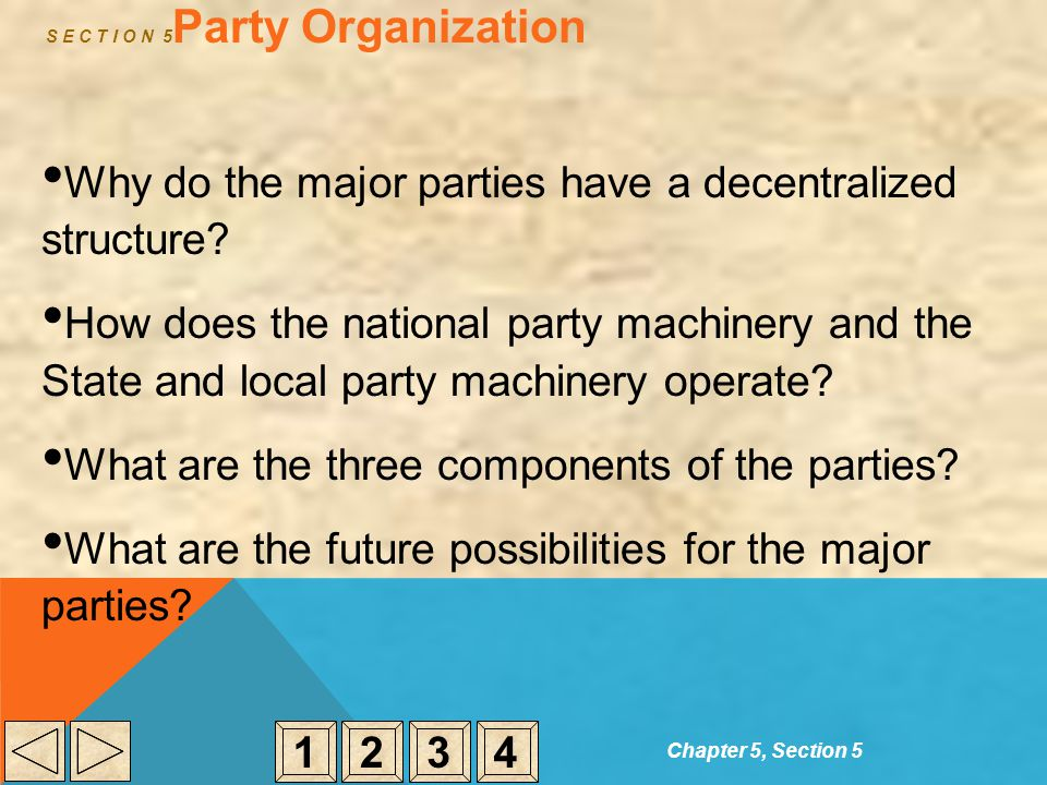 S E C T I O N 5Party Organization
