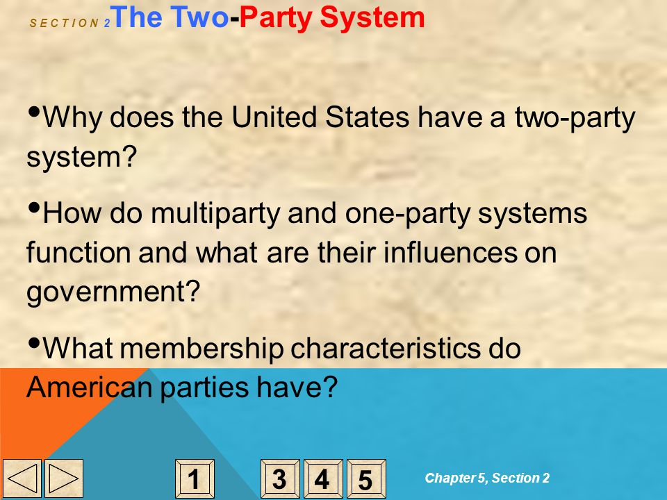 S E C T I O N 2The Two-Party System