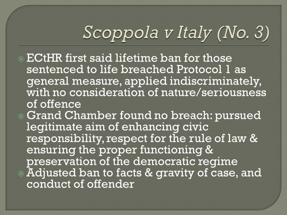 Scoppola v Italy (No. 3)