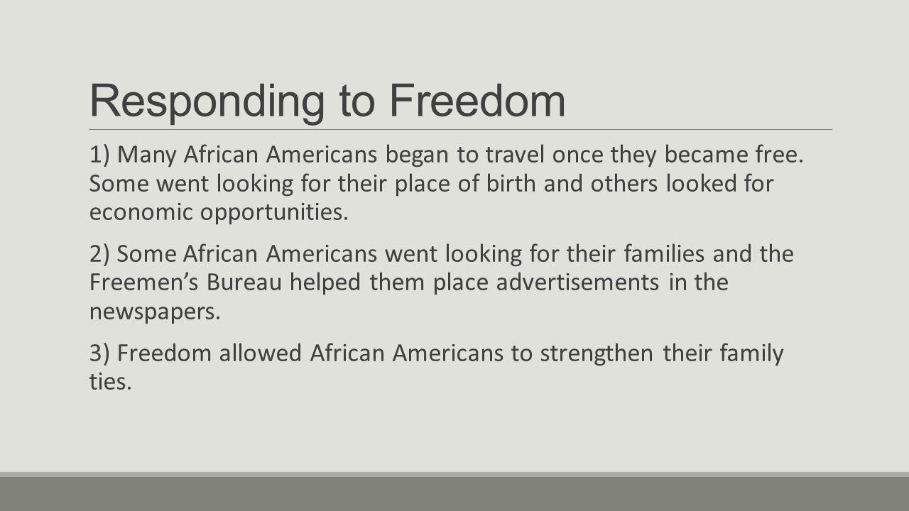 Responding to Freedom