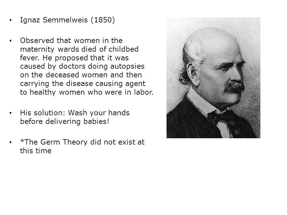 Ignaz Semmelweis (1850)