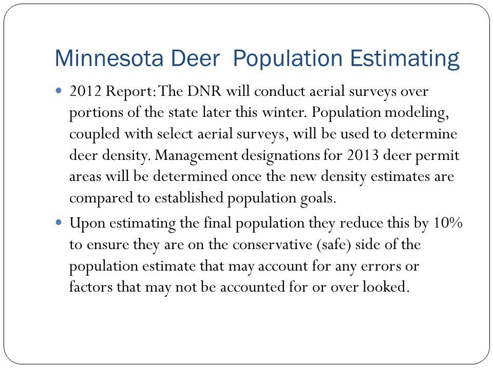 Minnesota Deer Population Estimating