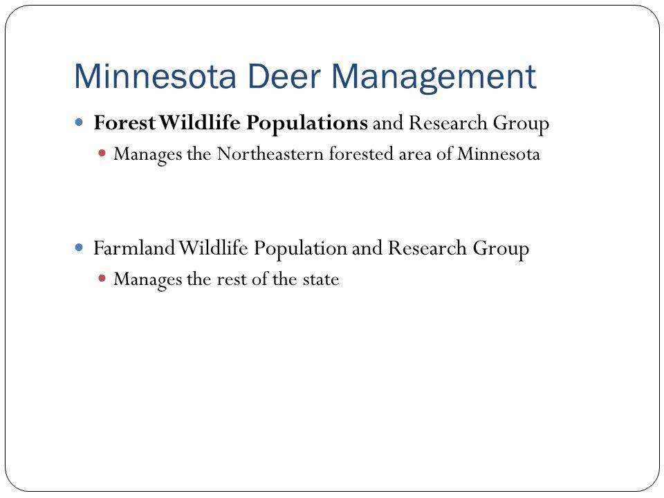 Minnesota Deer Management