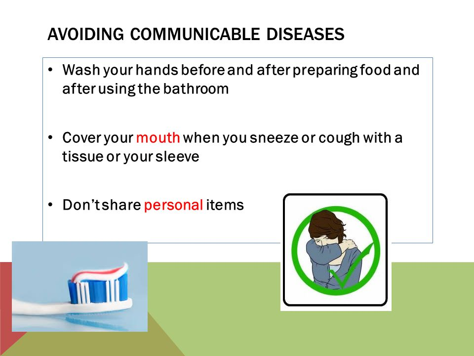 Avoiding communicable diseases