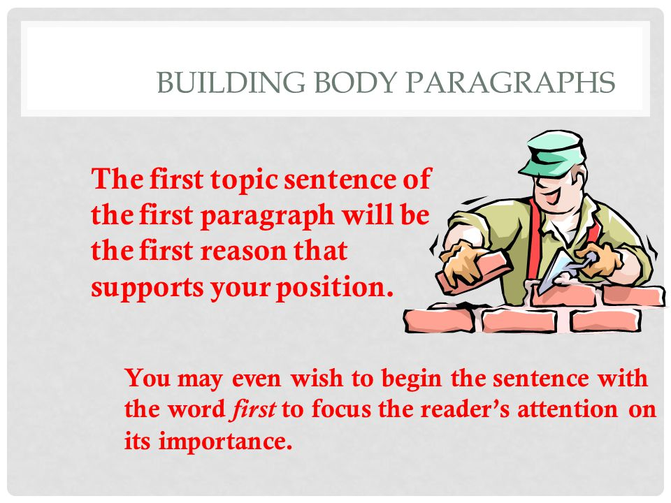 BUILDING BODY PARAGRAPHS