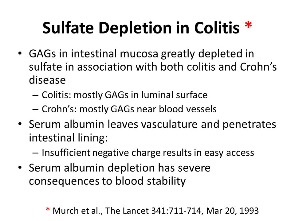 Sulfate Depletion in Colitis *