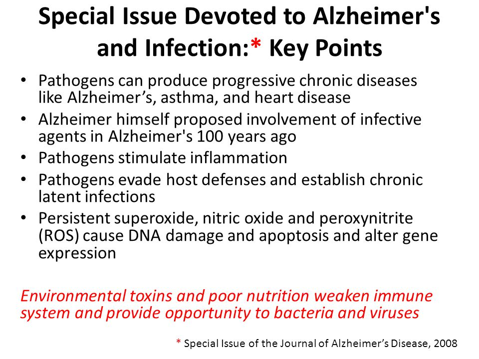 Special Issue Devoted to Alzheimer s and Infection:* Key Points