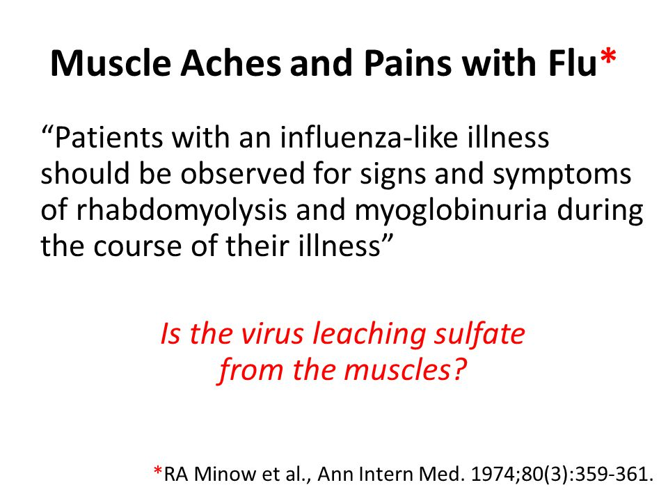 Muscle Aches and Pains with Flu*