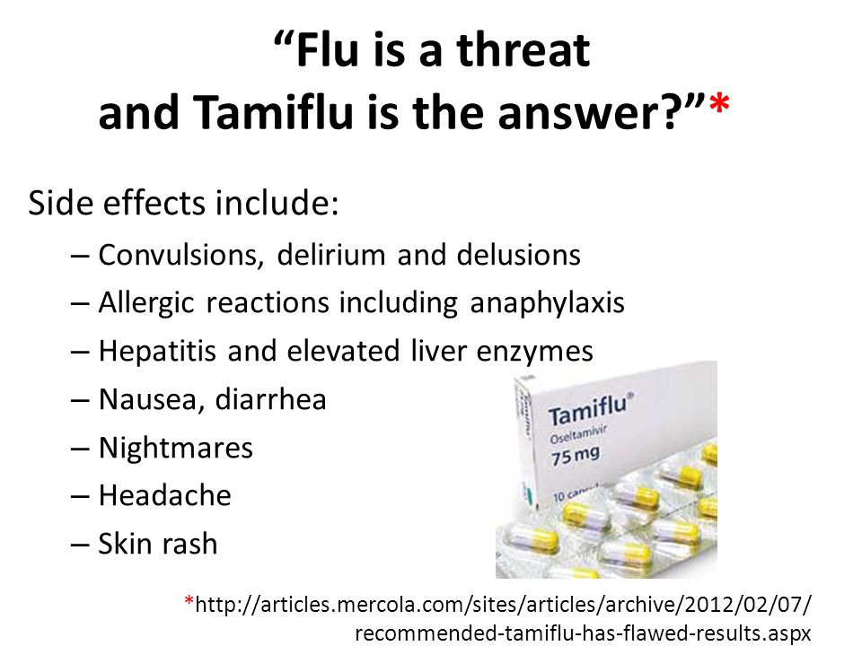 Flu is a threat and Tamiflu is the answer *