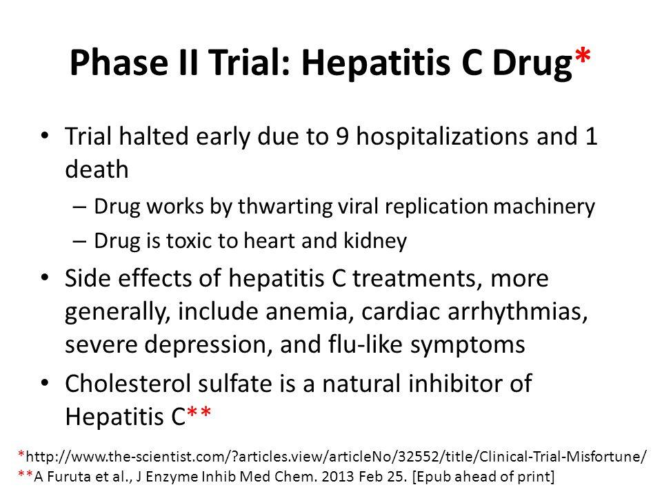 Phase II Trial: Hepatitis C Drug*