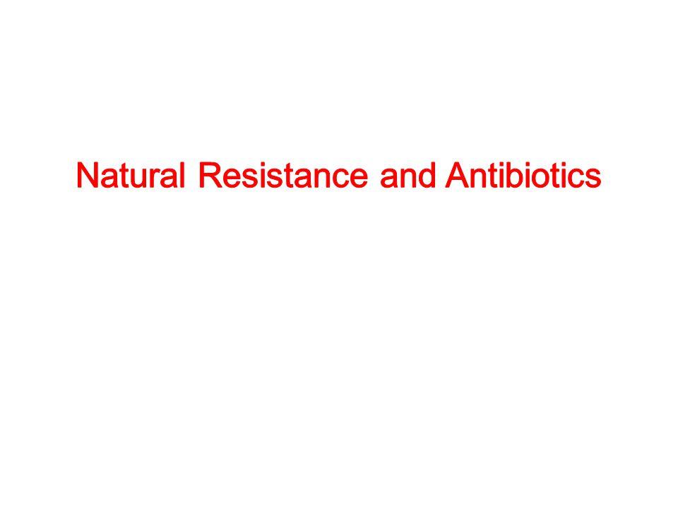 Natural Resistance and Antibiotics
