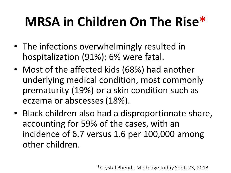 MRSA in Children On The Rise*