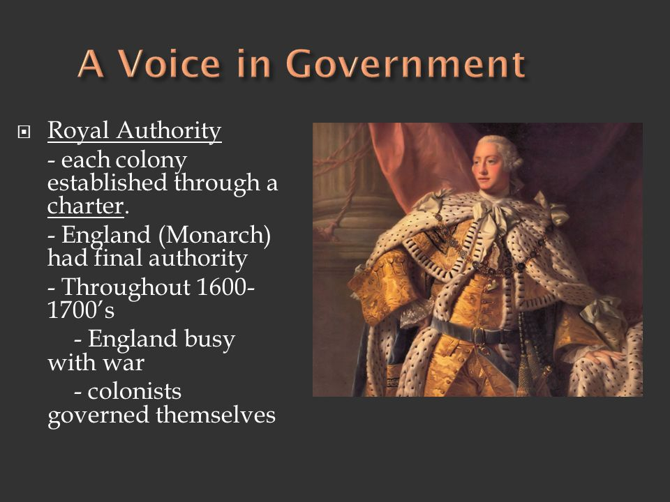A Voice in Government Royal Authority