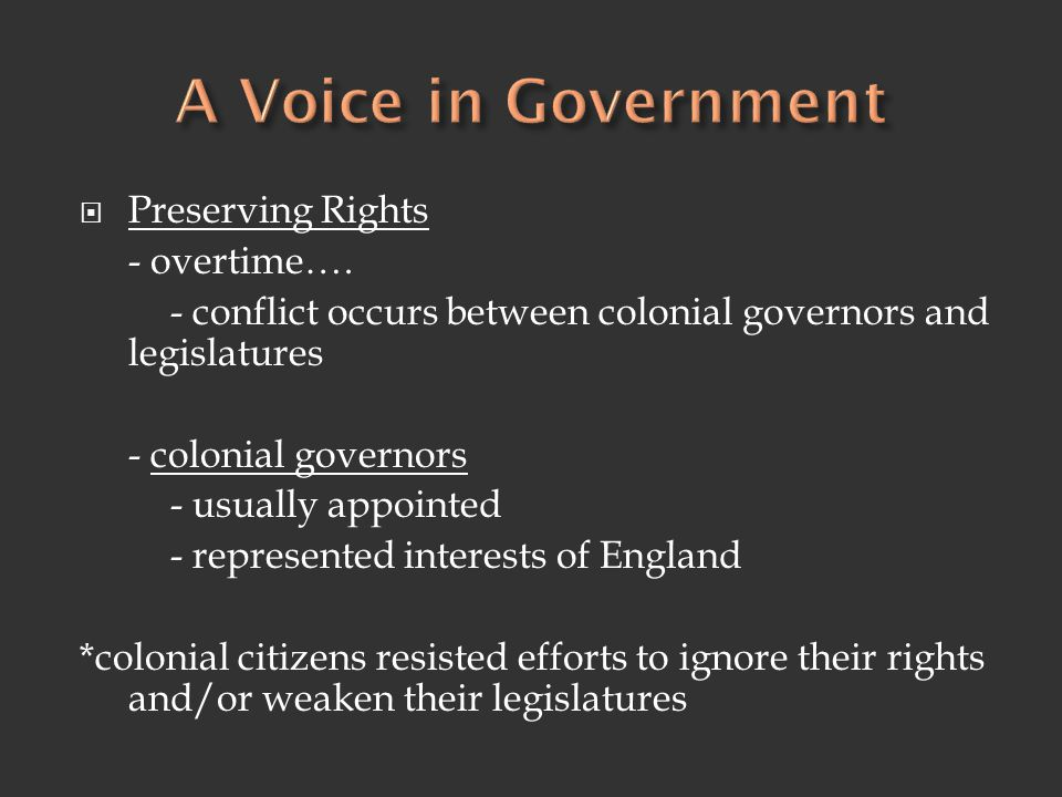 A Voice in Government Preserving Rights - overtime….