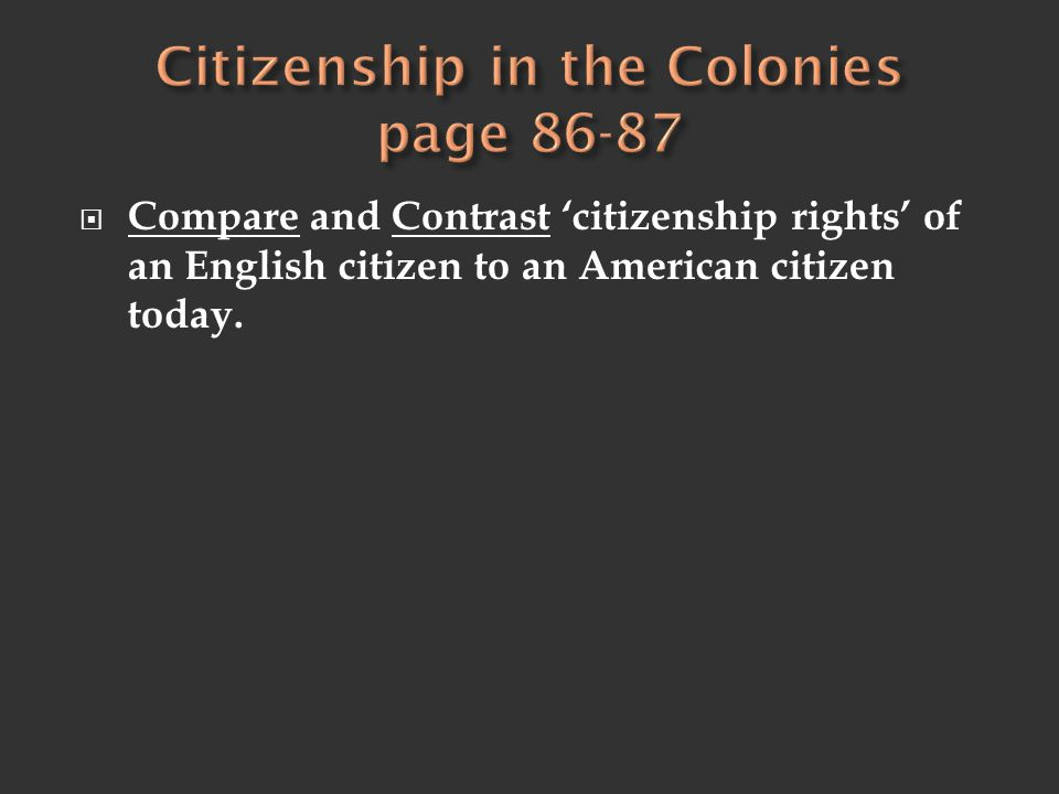 Citizenship in the Colonies page 86-87