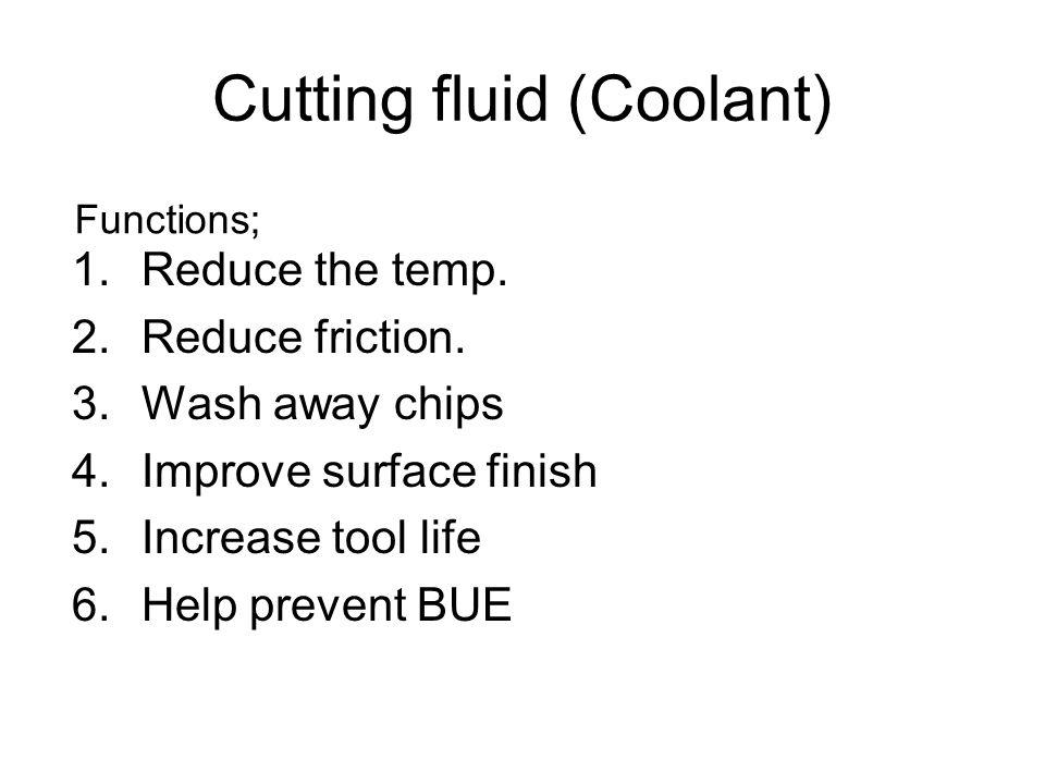 Cutting fluid (Coolant)