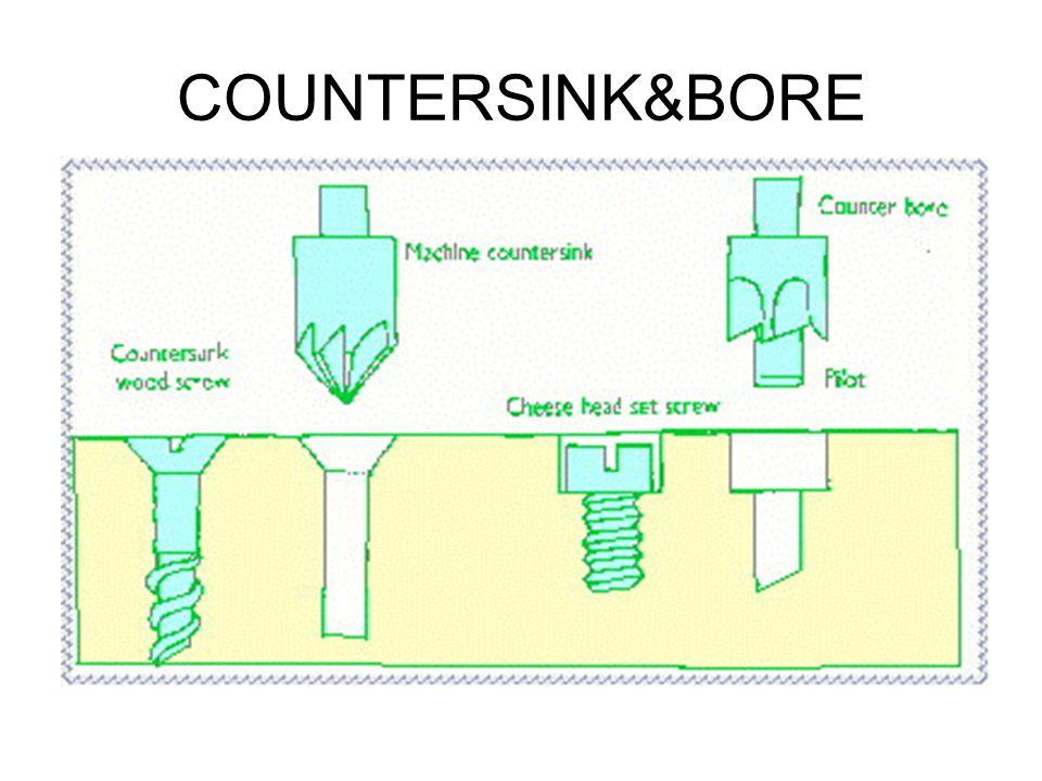 COUNTERSINK&BORE