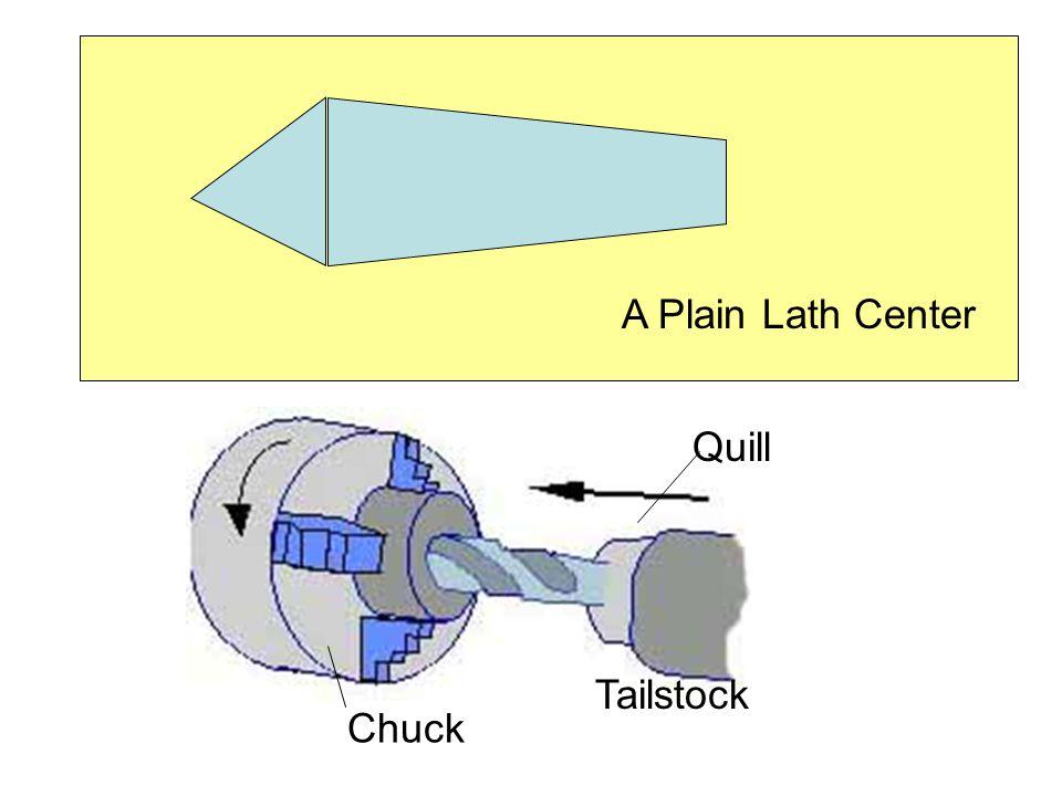 A Plain Lath Center Quill Tailstock Chuck