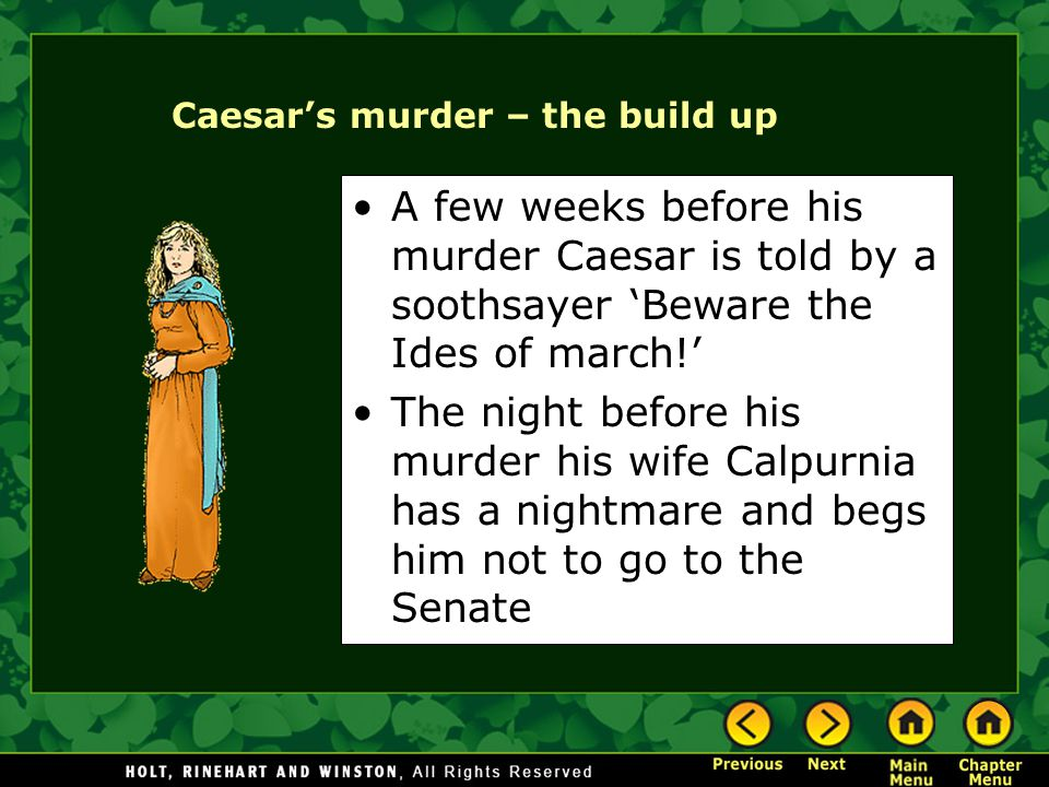Caesar's murder – the build up