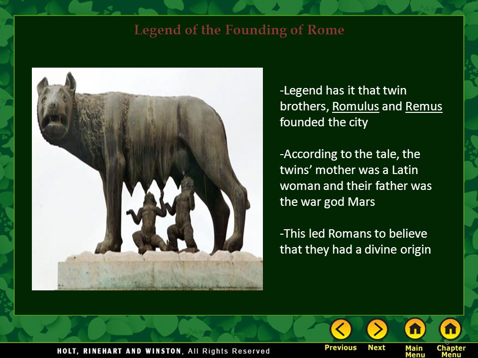 Legend of the Founding of Rome