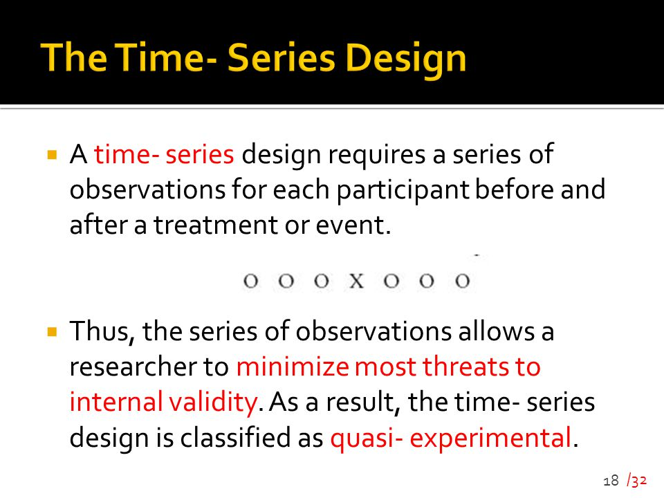 The Time- Series Design
