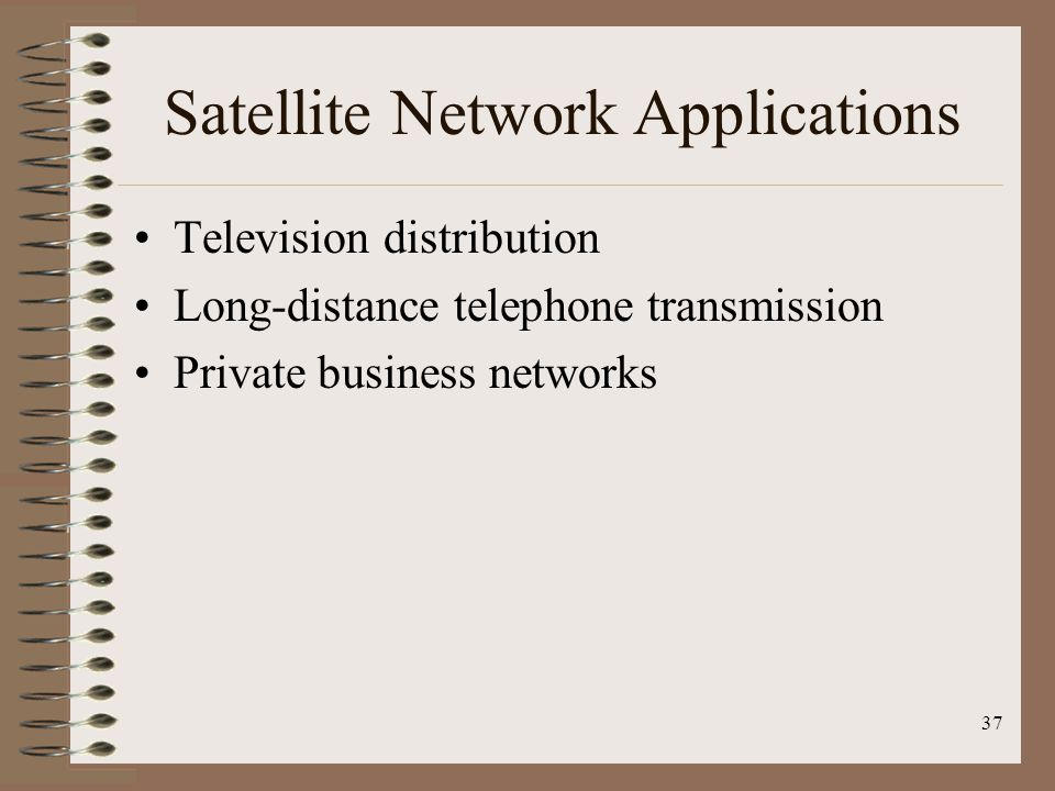 Satellite Network Applications