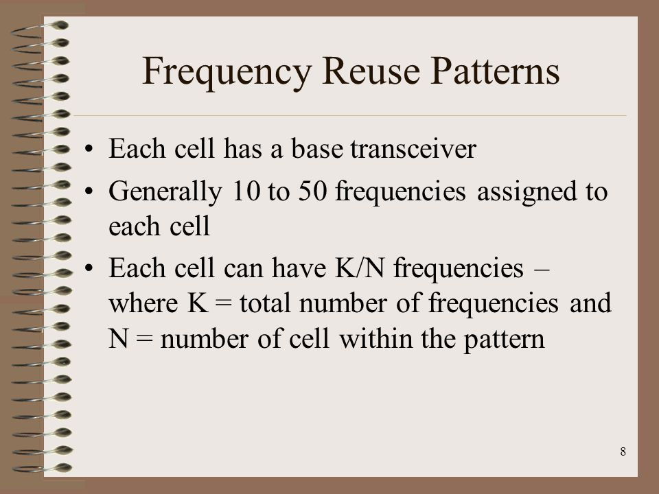 Frequency Reuse Patterns