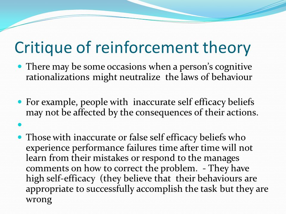 Critique of reinforcement theory