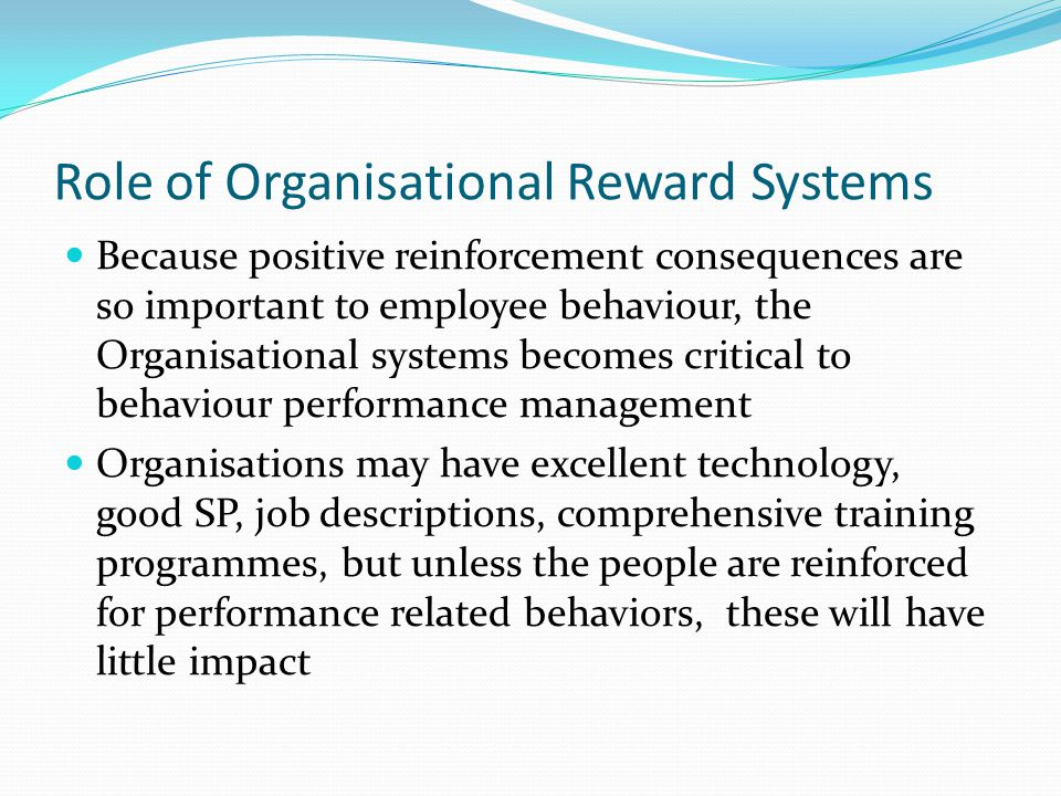 Role of Organisational Reward Systems
