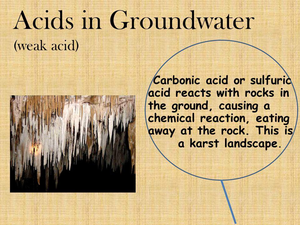 Acids in Groundwater (weak acid)