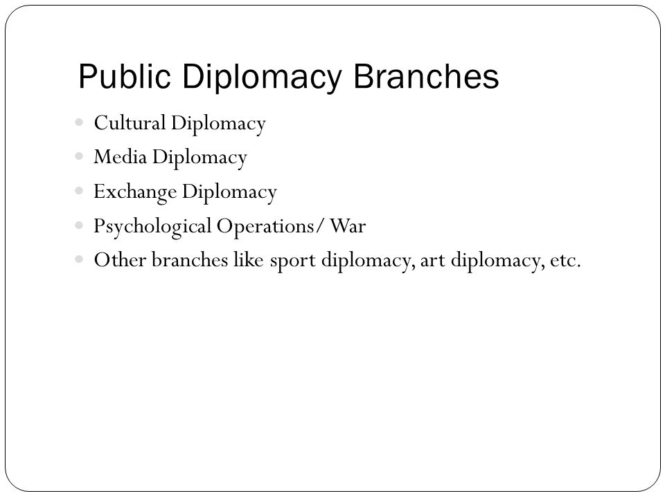 Public Diplomacy Branches