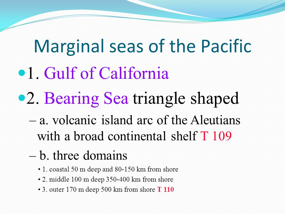 Marginal seas of the Pacific
