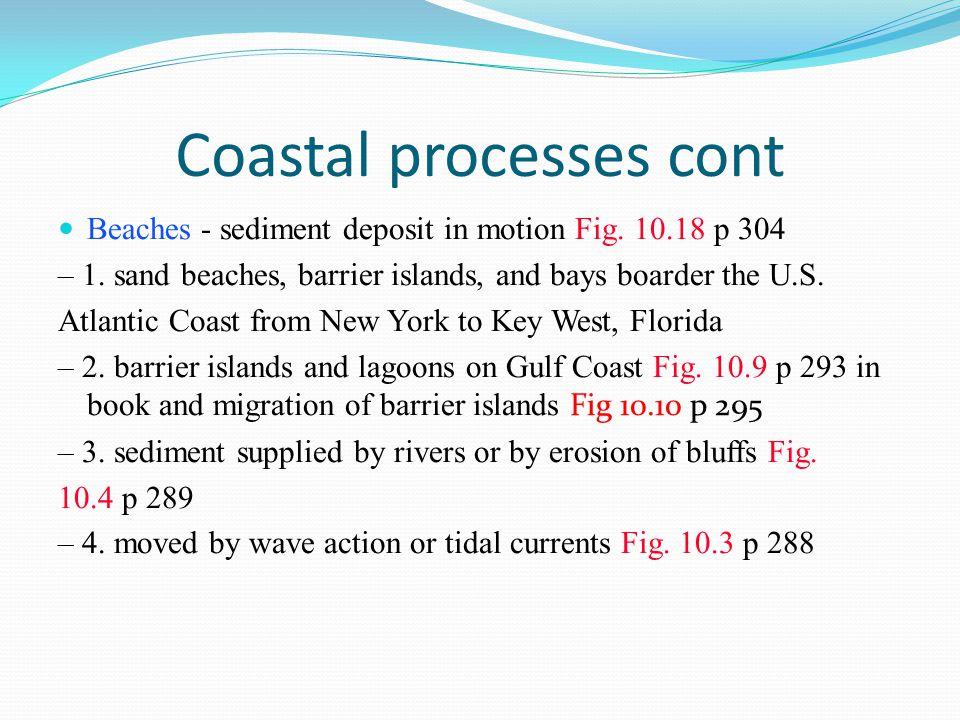 Coastal processes cont