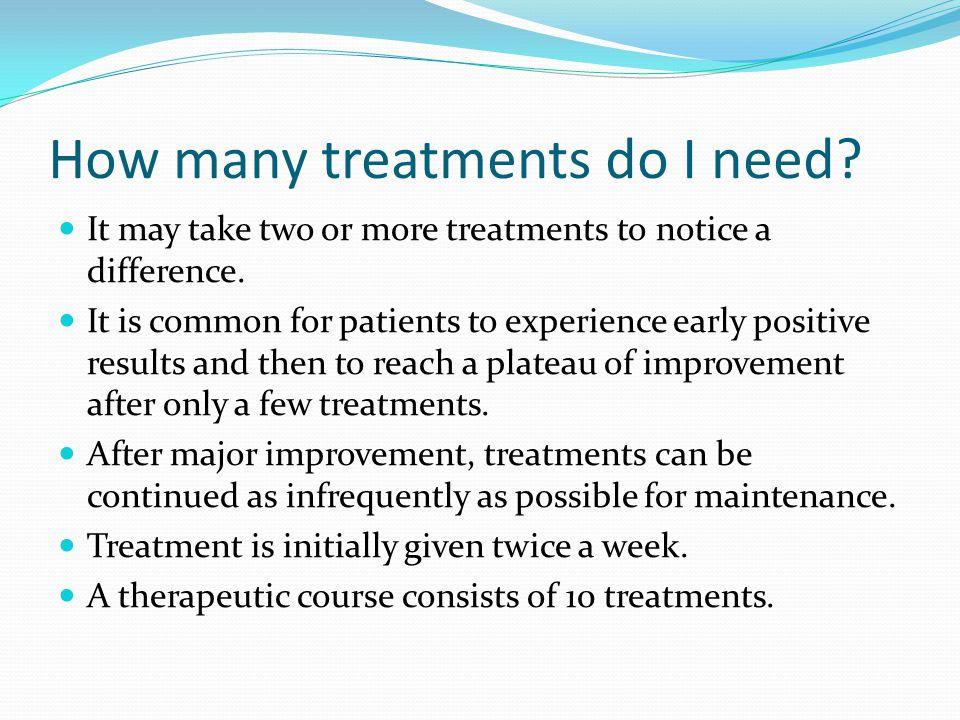 How many treatments do I need