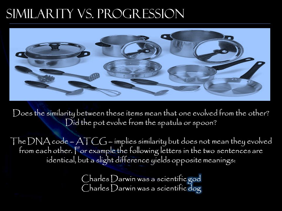 Similarity vs. Progression