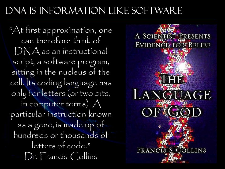 DNA Is Information like software