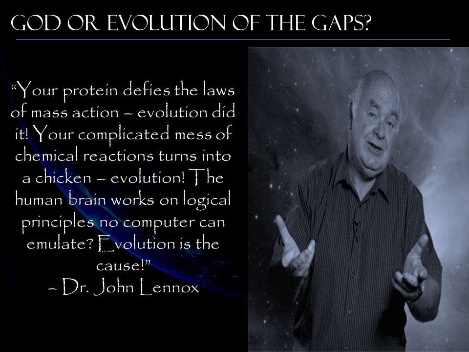 God or Evolution of the Gaps