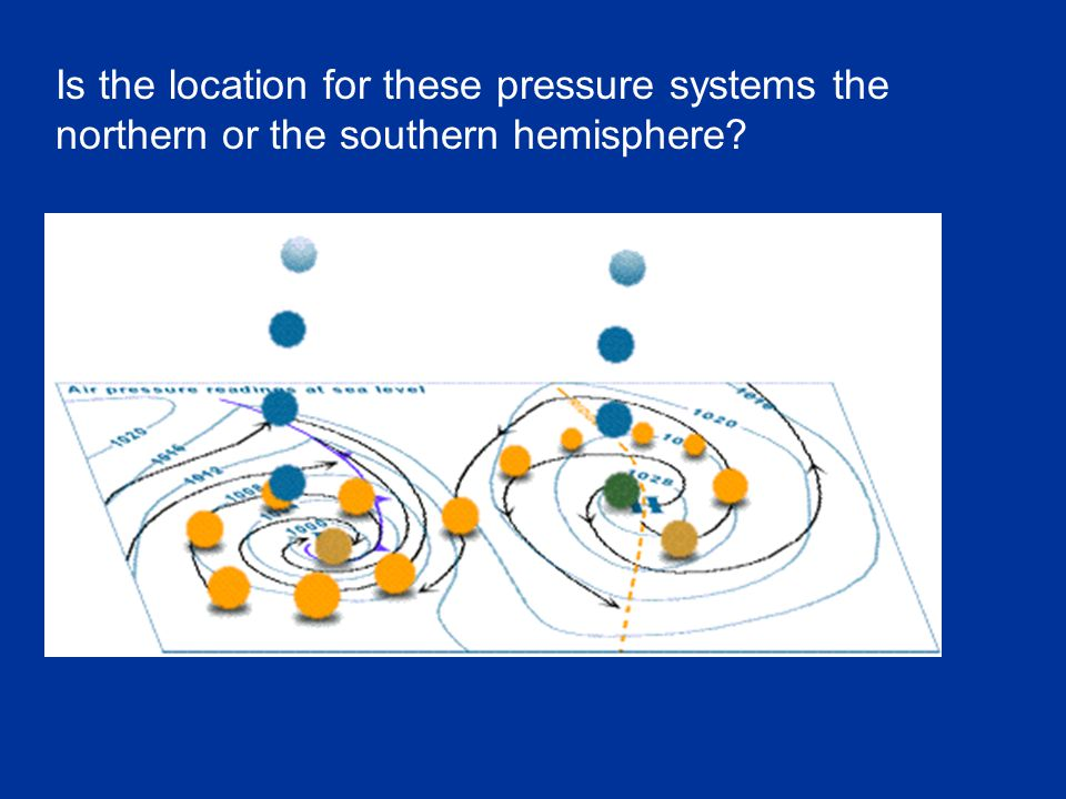 Is the location for these pressure systems the northern or the southern hemisphere