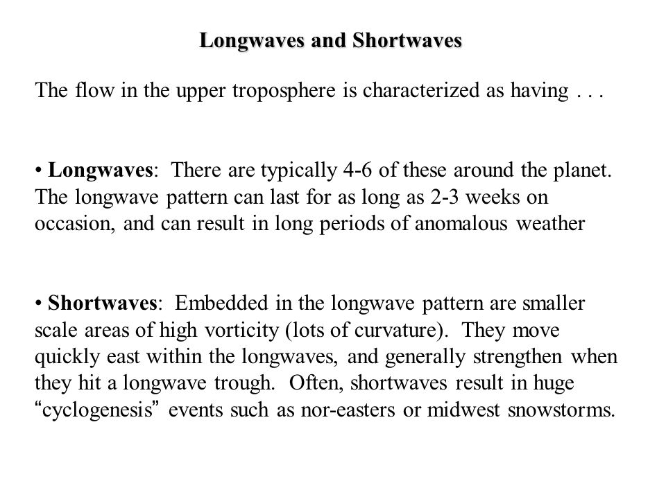 Longwaves and Shortwaves