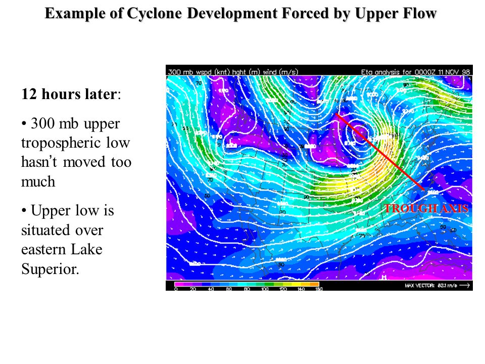 Example of Cyclone Development Forced by Upper Flow