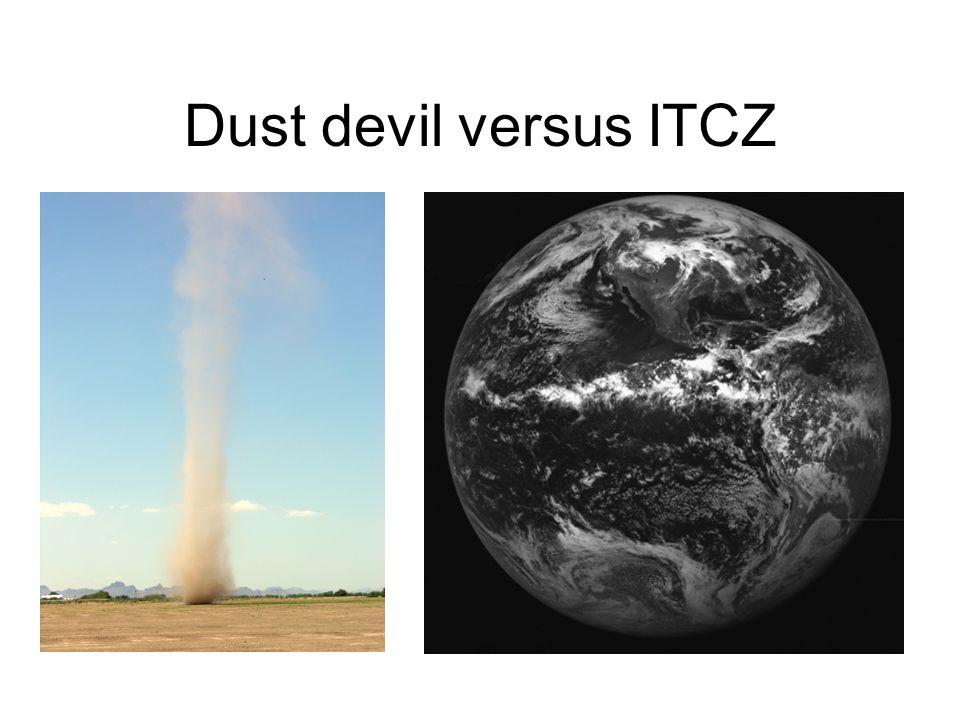 Dust devil versus ITCZ