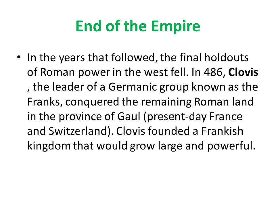 End of the Empire