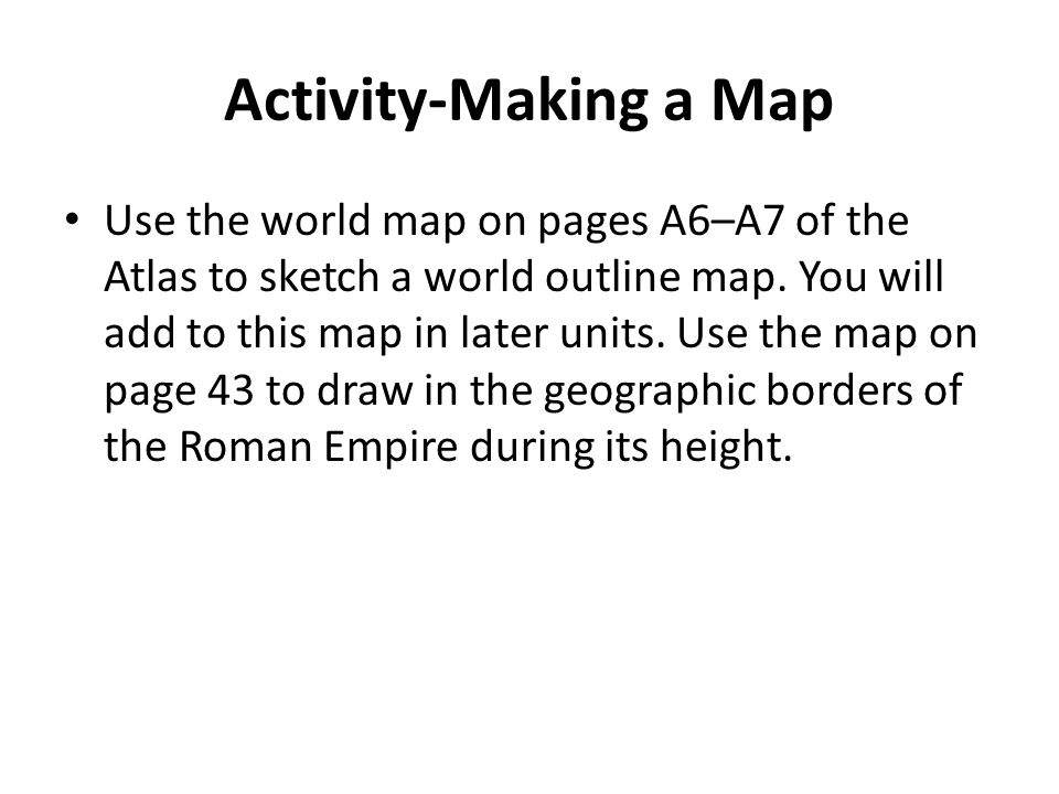 Activity-Making a Map