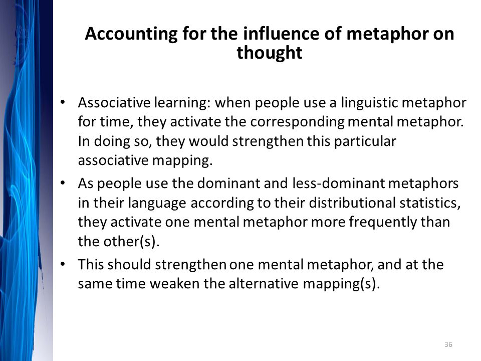 Accounting for the influence of metaphor on thought