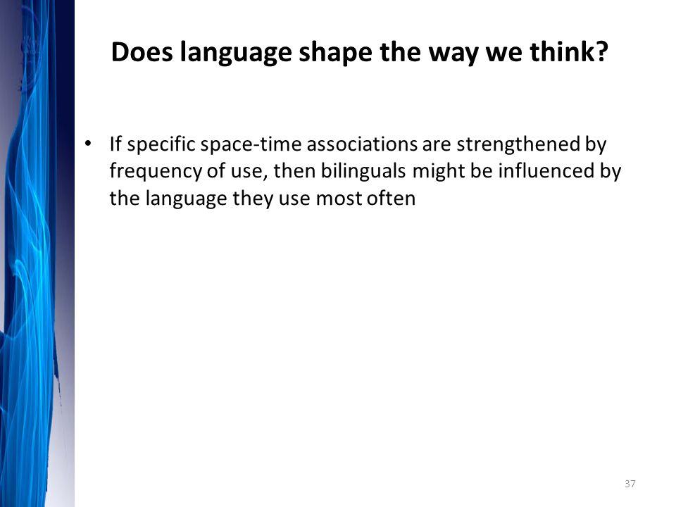 Does language shape the way we think
