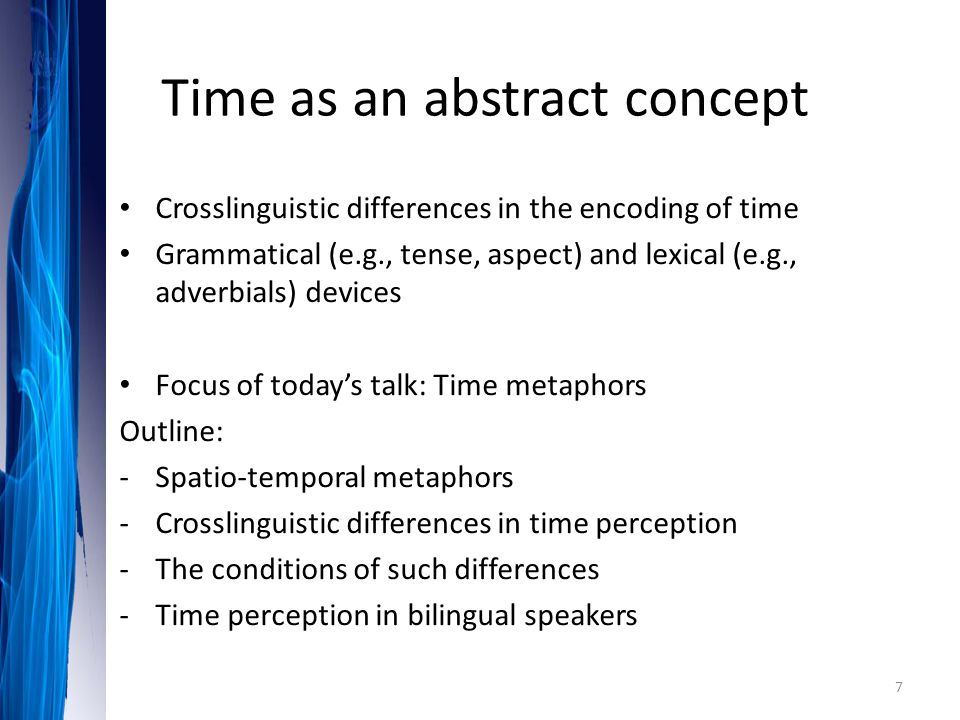 Time as an abstract concept